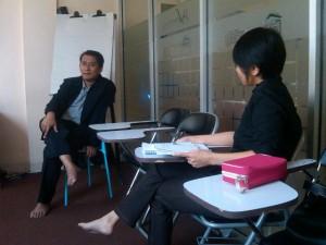 Meriza Hendri Berbincang dengan Siswi GIMB Entrepreneur School