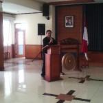 Meriza Hendri Pada Saat Memberikan Sambutan What Your Talent di STIE Ekuitas Bandung