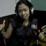 Sissy GIMB pada sesi wawancara di Radio Pro2 FM